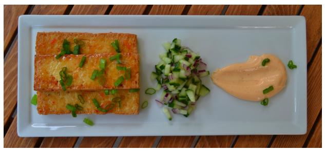 honey chili tofu